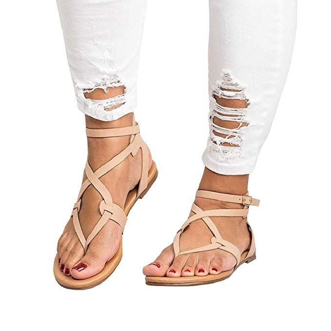 4ee4ab75f2f82 Amazon.com: Sandals for Women Bummyo Ladies Sandals Flat Sandals ...