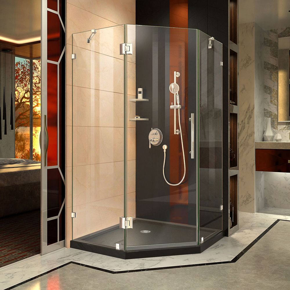 Prism Lux 42 Inch D X 42 Inch W Shower Enclosure In Chrome With