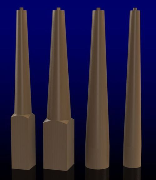 Best K10 Turned Newel Posts Round Tapered Proudly Made In Usa 400 x 300