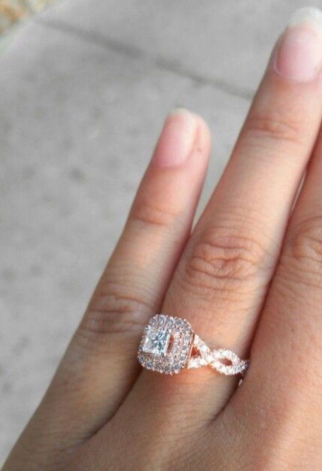 Stunningly Beautiful Rose Gold Custom Made Vera Wang Engagement Ring