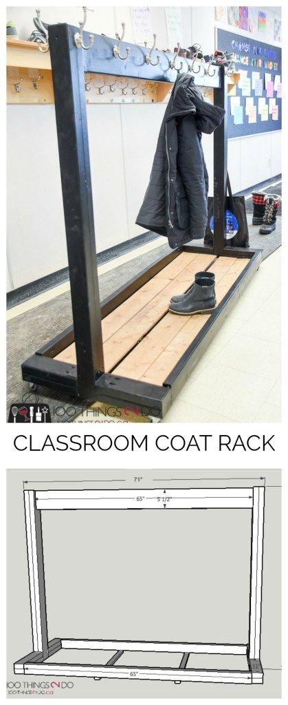 Portable Coat Rack Classroom DIY For Multiple Coats Rolling