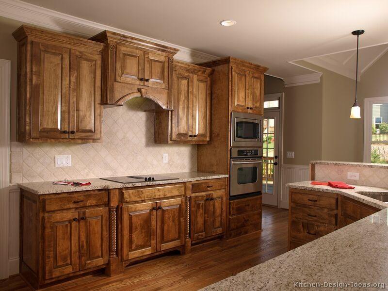 Kitchen Ideas Medium Brown Cabinets, Kitchen Ideas With Brown Cabinets