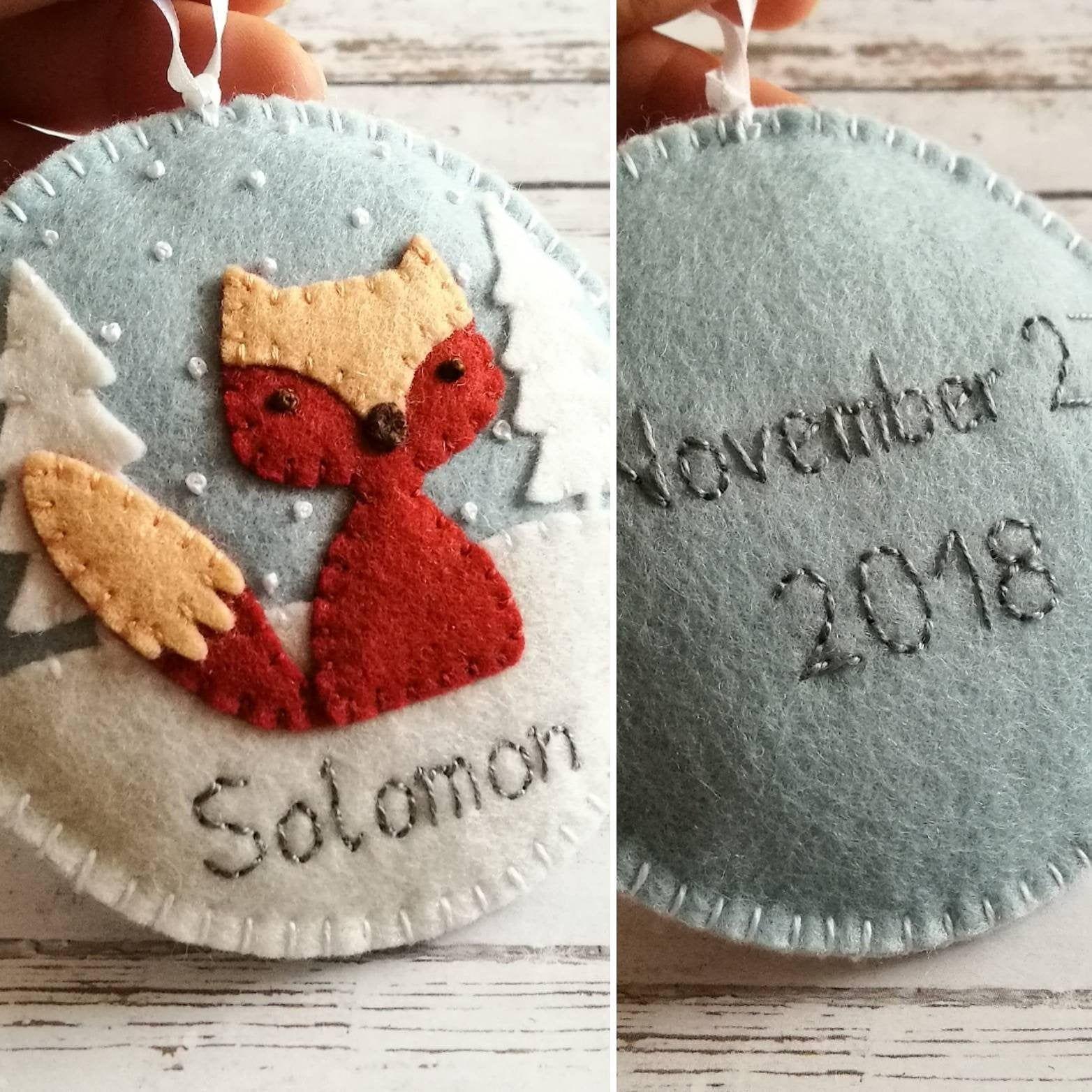 14+ Embroidered felt fox ornament ideas