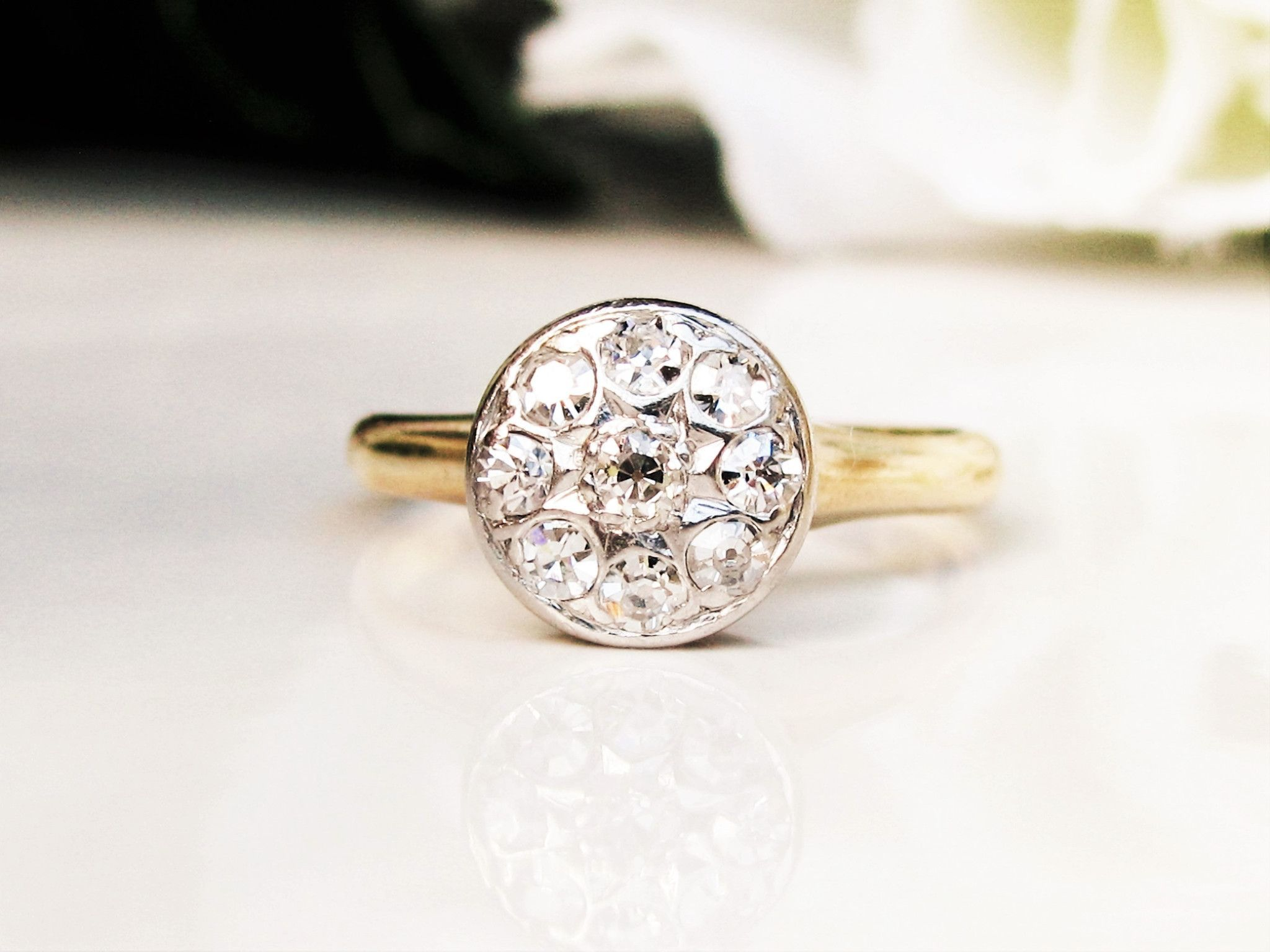 daisy diamond cluster goldsmiths product and edwardian ring