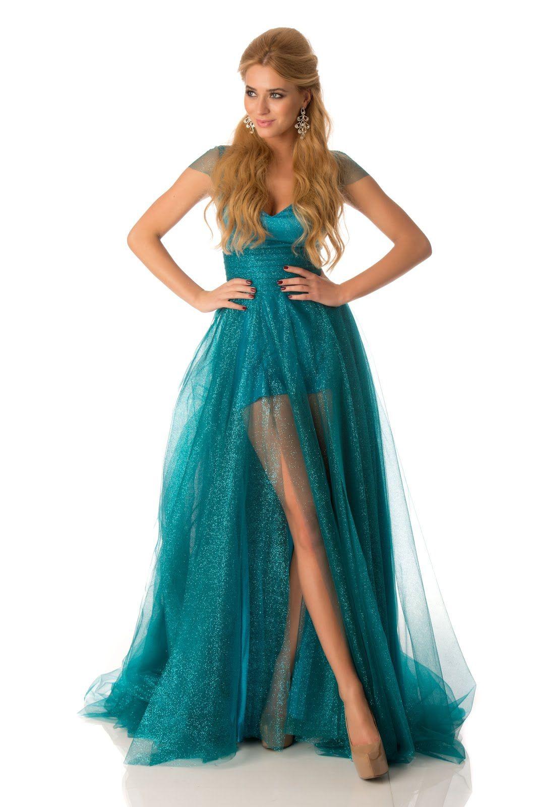 Marcelina Zawadzka – Miss Poland | Long Blue/Purple Dresses ...