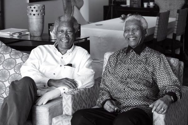 Morgan Freeman & Nelson Mandela | Morgan freeman, Freeman ...