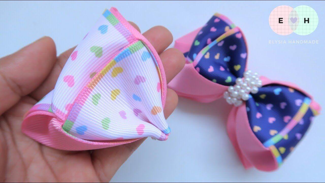 Amazing Ribbon Bow - Hand Embroidery Works - Ribbon Tricks & Easy Making Tutorial #95