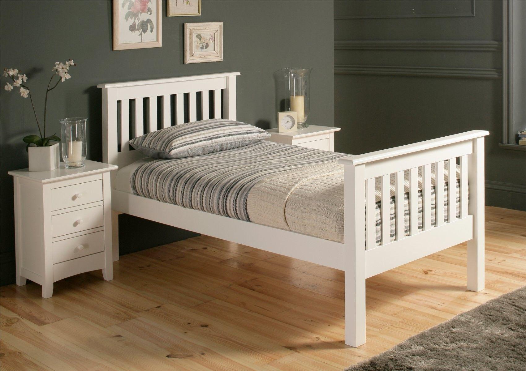 Shaker Solo White Wooden Bed Frame £159.00 White wooden