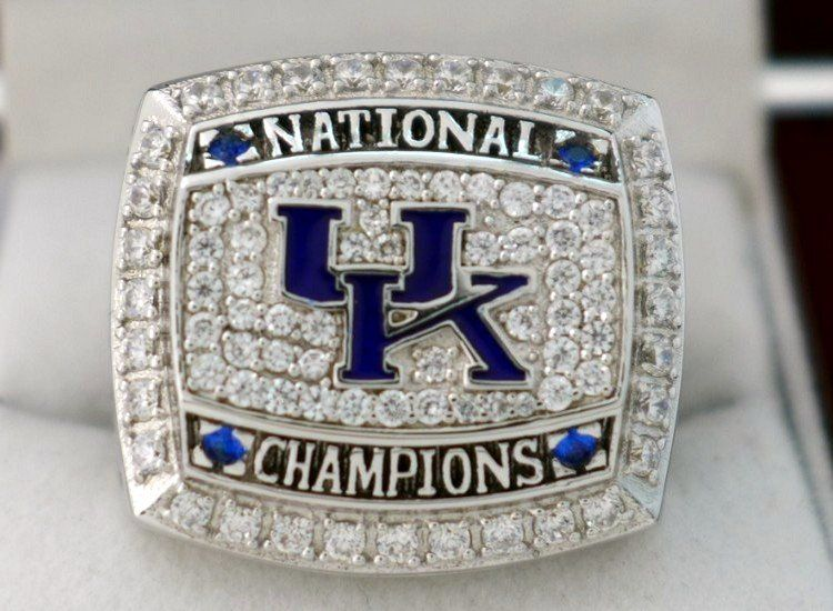 2012 sec uk kentucky wildcats ncaa national champions basketball championship ring