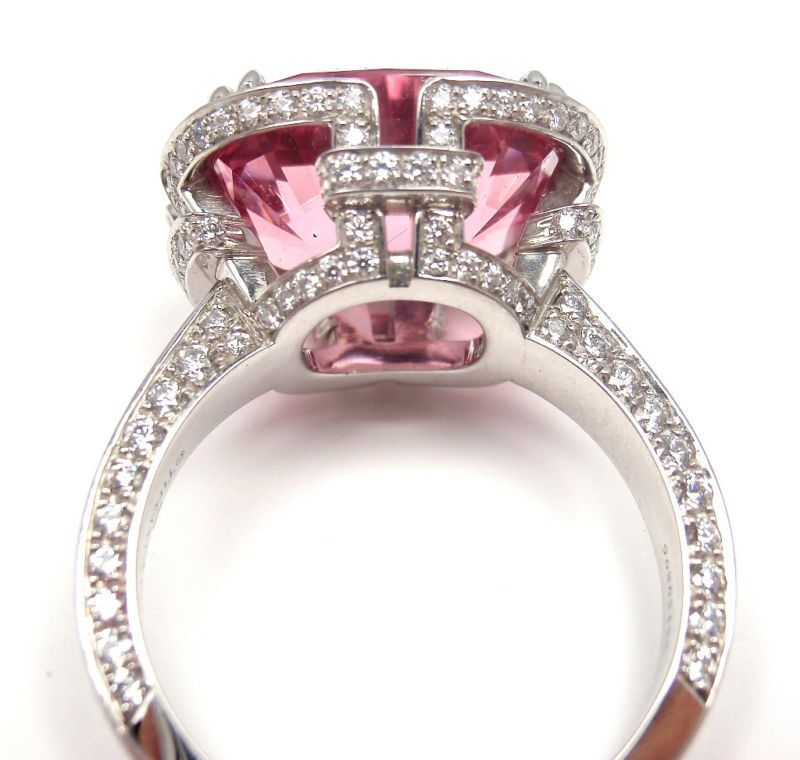 8886aee6c7a2 TIFFANY and CO. Diamond Platinum Pink Spinel  Blue Book  Ring ...