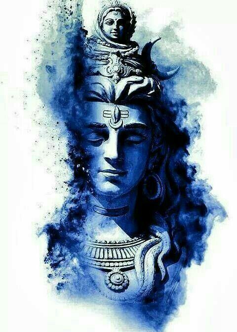 Dewa Siwa Shiva Angry Lord Shiva Painting Shiva Tattoo