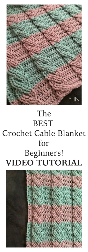 Crochet Cable Blanket with FREE Pattern | DIY Decor | Pinterest ...