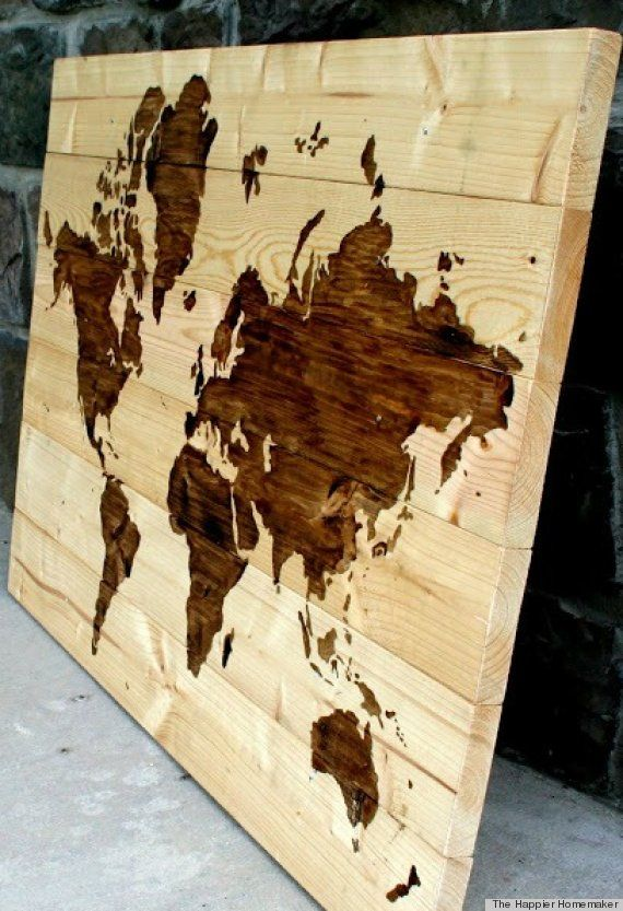 Cool  I could paint this clear coat it  Very fun desk top idea. PHOTOS  9 Awesome DIYs Made From Wood   Diy wood  Desks and Woods