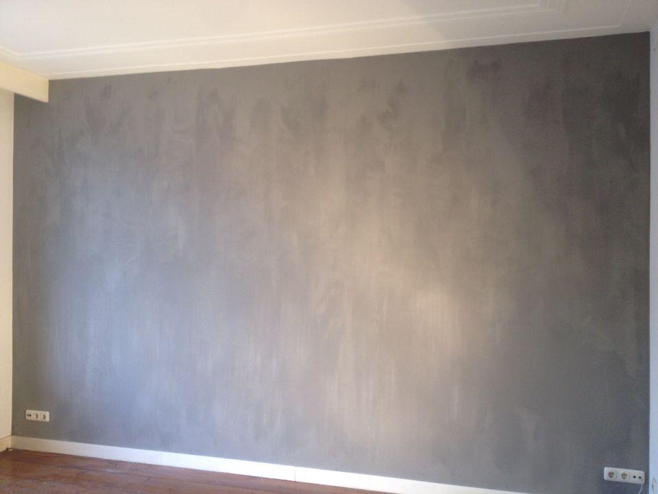 wand beschilderd met kalkverf voor een mooi eigentijds. Black Bedroom Furniture Sets. Home Design Ideas