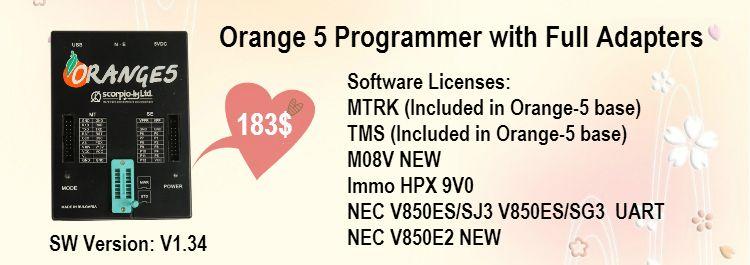 Oem Orange 5 Key Programmer Clone Full Package With V1 34 Orange 5