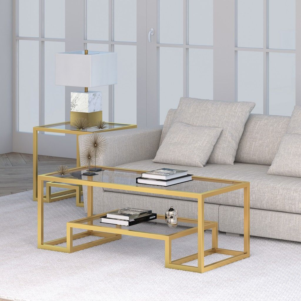 Athena Brass Finish Coffee Table Hudson Canal Ct0066 Glam Coffee Table Coffee Table Geometric Coffee Table [ 1024 x 1024 Pixel ]