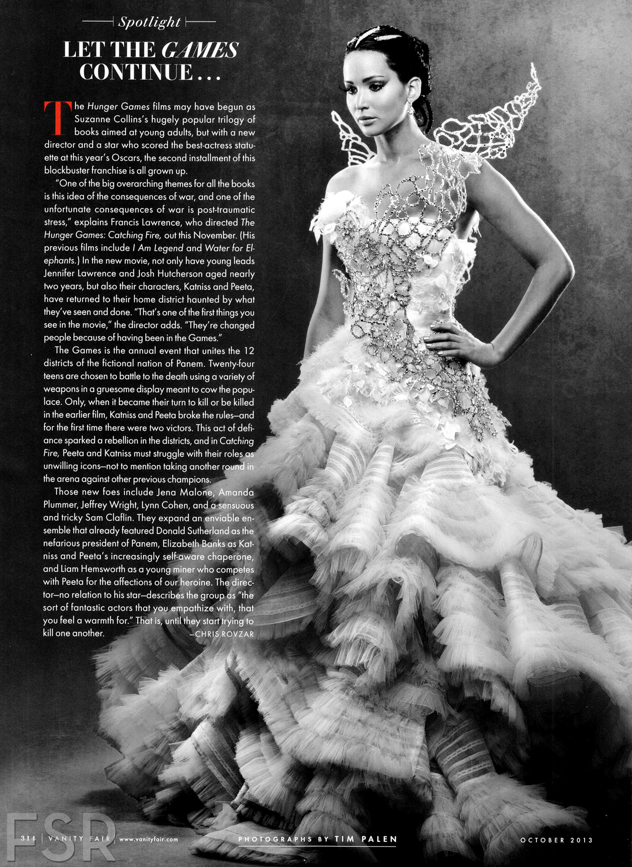Jennifer Lawrence in Katniss Everdeen Couture for  Hunger Games Catching Fire.  by Vanity Fair ( Costume Design by Trish Summerville)  sc 1 st  Pinterest & Catching Fire SPOTLIGHT: Let The GAMES Continue... [Vanity Fair] | I ...