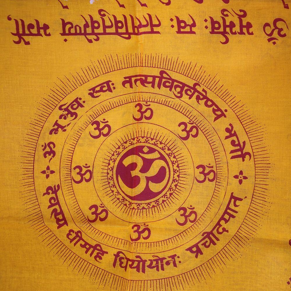 Benares Tuch Mantra Lunghi Schal Orange