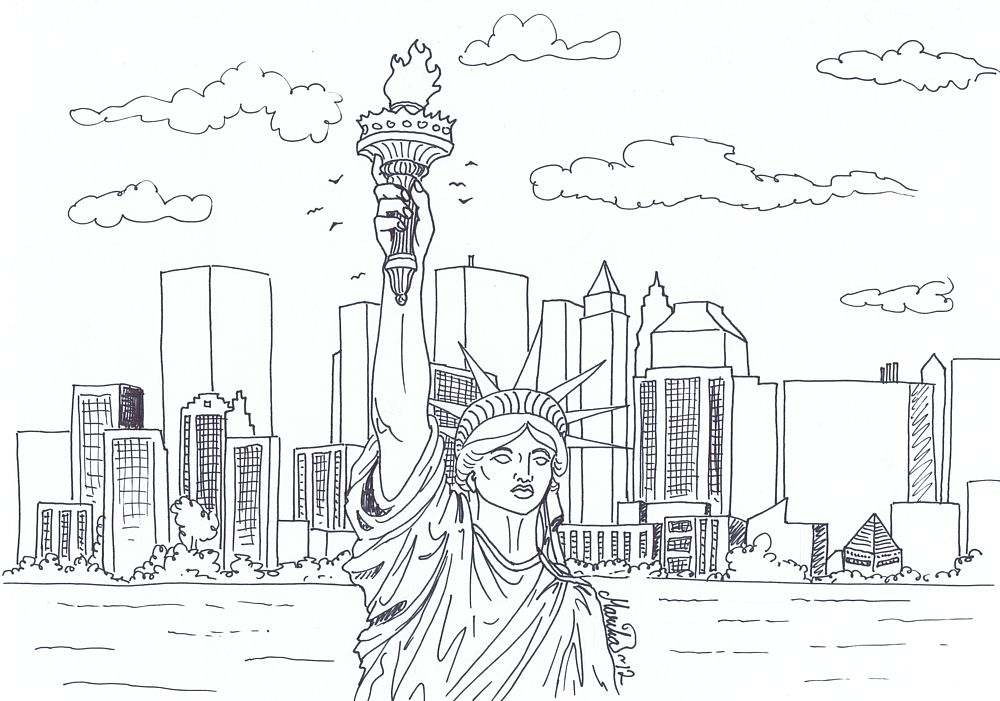 New York Coloring Pages | coloring | Pinterest
