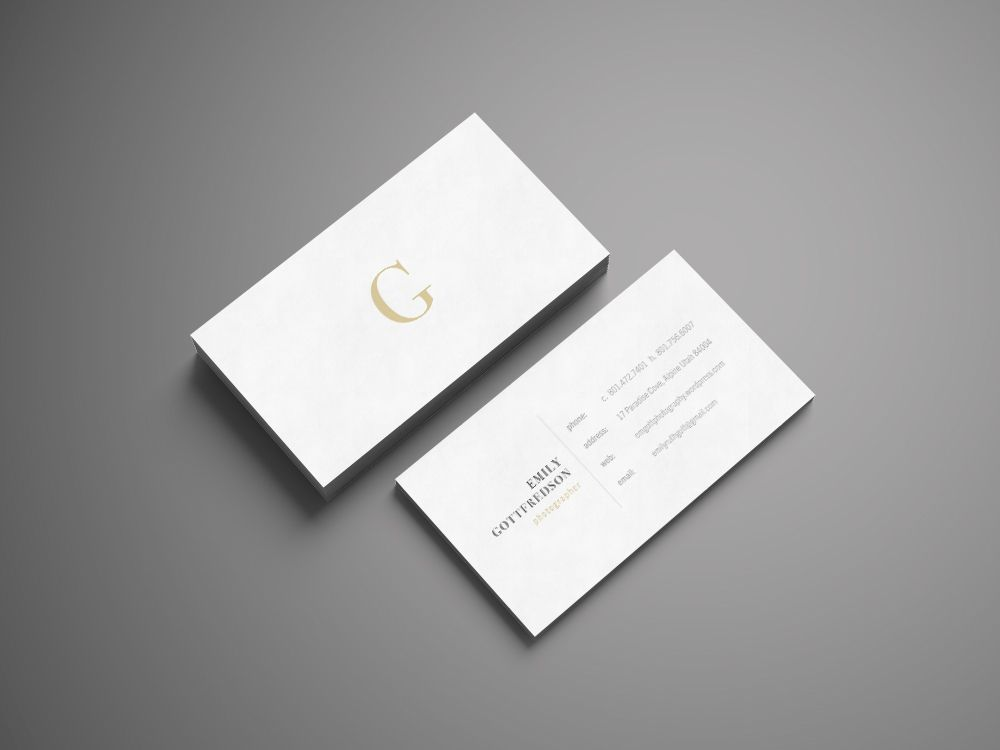 Personal Business Card on Behance | BYUi ART230-Project 02 ...