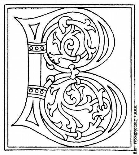 ausmalbilder buchstaben mittelalter  tiffanylovesbooks