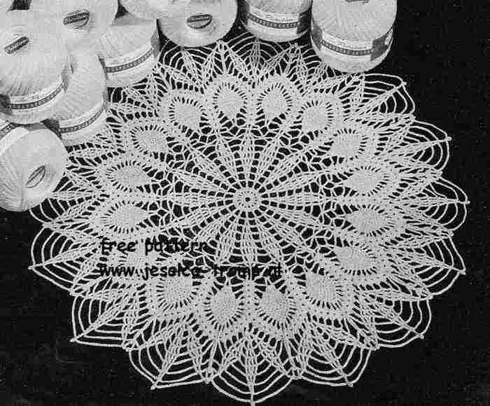 Easy Pineapple Doily Free Vintage Crochet Doilies Patterns Shez