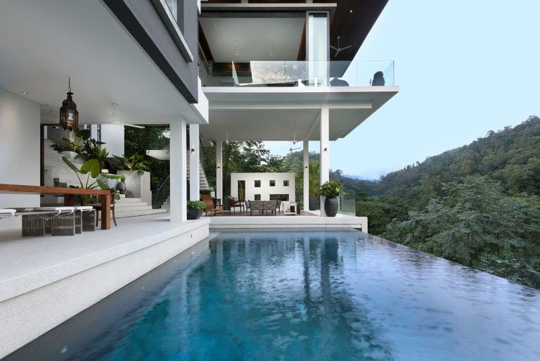 Spectacular Home Featured On Crazy Rich Asians With Amazing Forest Views In 2020 Asian House Contemporary House Design Architecture