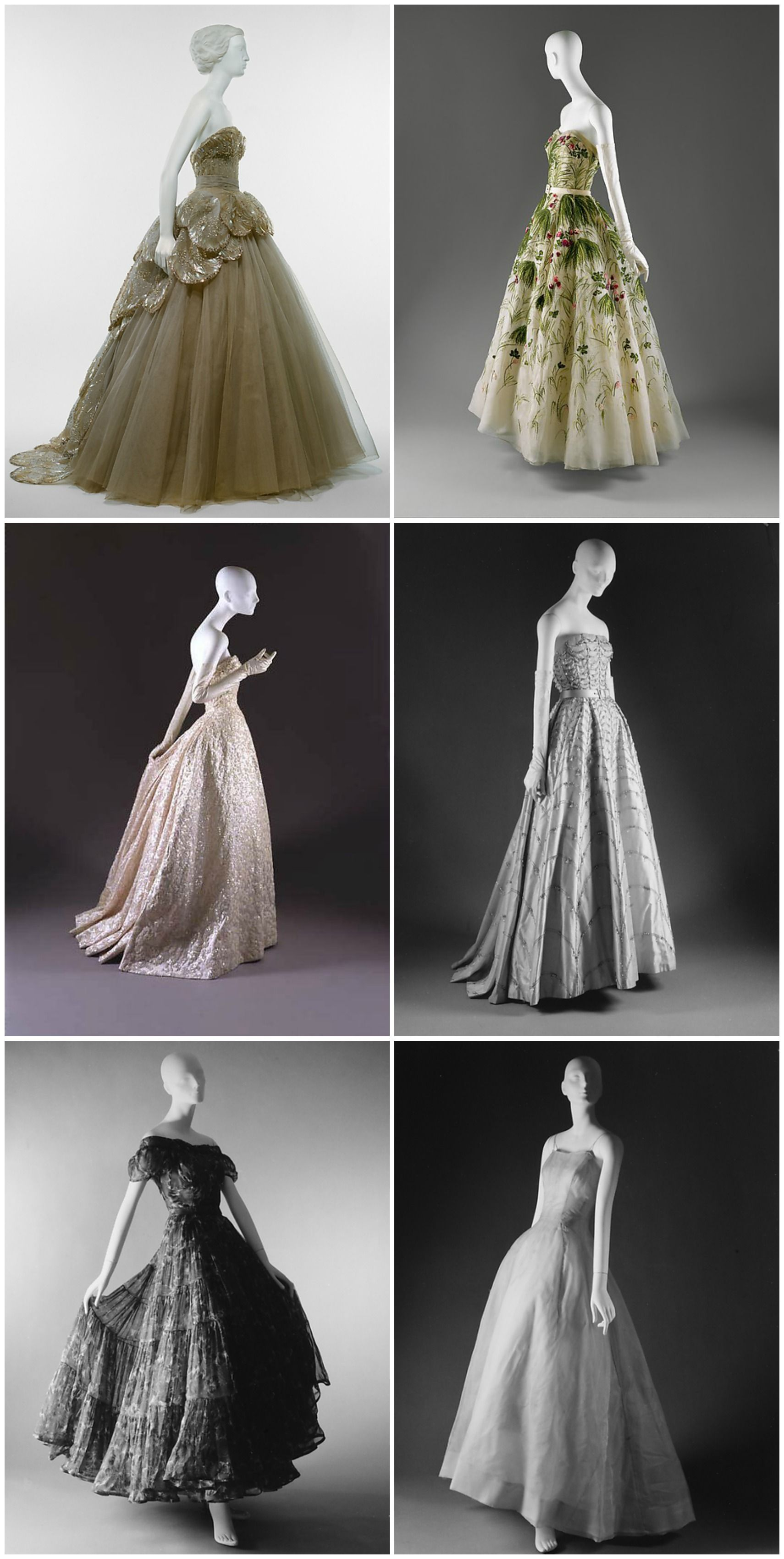 1950s Ball Gowns House Of Dior Metmuseum