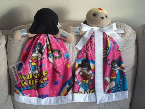 Wonder Woman Large Lovey for Children by FuzziLovies on Etsy