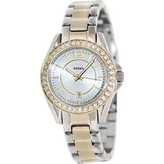Fossil Women's ES2880 Silvertone Stainless Steel Quartz Watch | Overstock™ Shopping - Big Discounts on Fossil Fossil Women's Watches