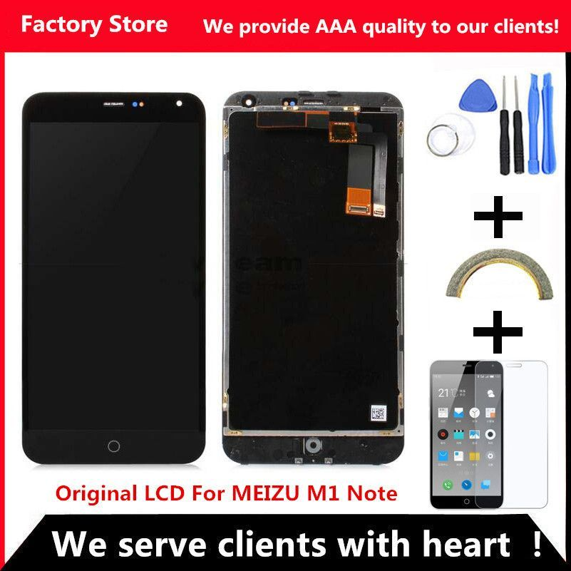 AAA Quality! Original LCD + Original Frame For MEIZU M1 NOTE Lcd ...