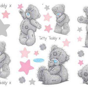 Me To You Bears Tatty Teddy Self Adhesive Nursery Wall Stickers