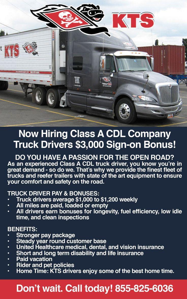 class a cdl driver jobs near me