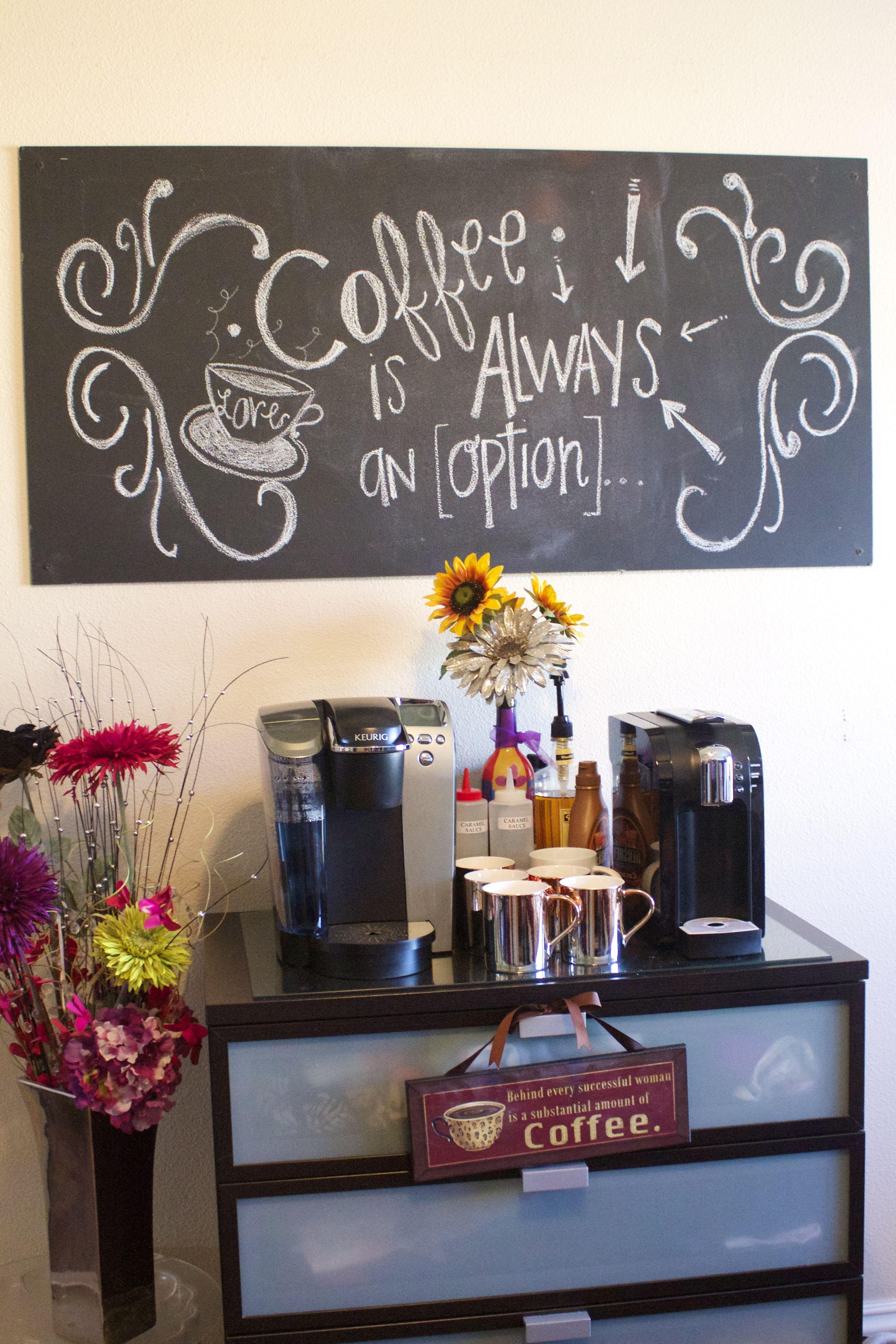 Metallschild Kaffeeecke