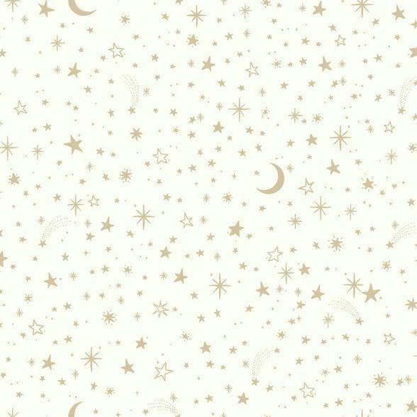 RoomMates Twinkle Little Star Peel & Stick Wallpaper Gold