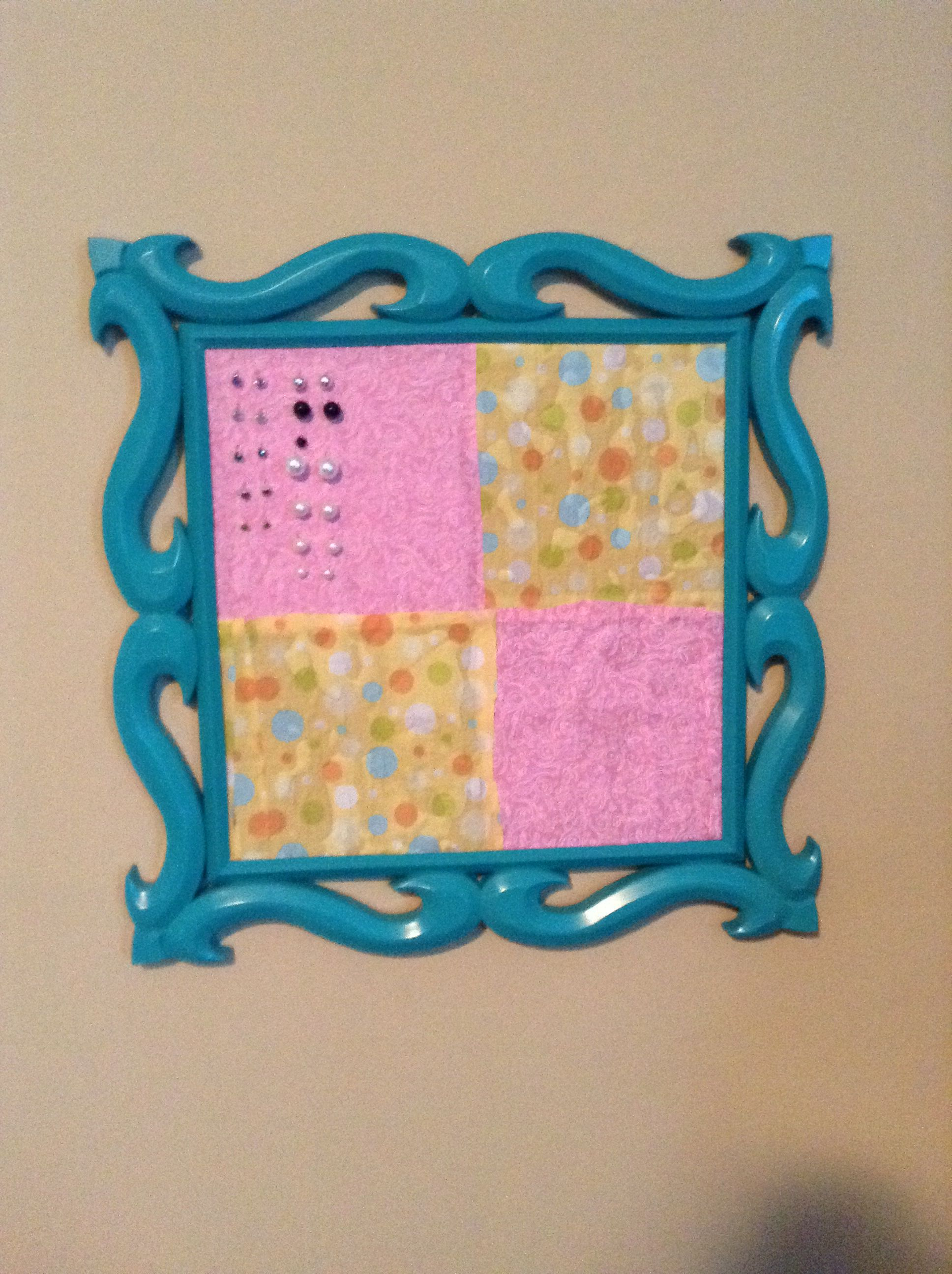 Diy Jewelry Holder Cute Easy And Cheap Made With Cork Board Fabric