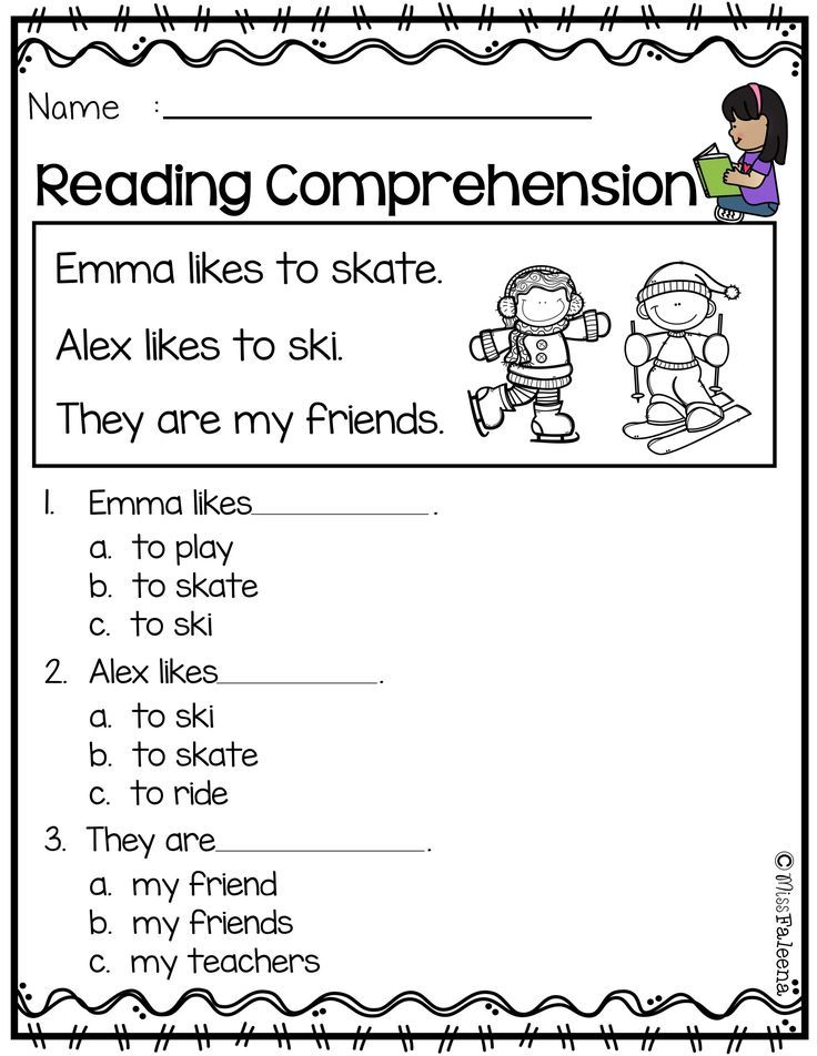 Free Reading Comprehension Reading Comprehension Worksheets Reading Comprehension Kindergarten Reading