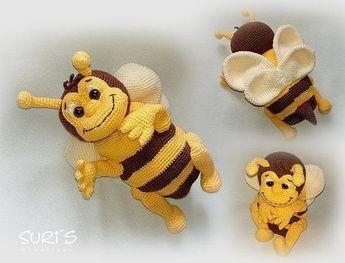 Jetzt Mit Der Gratis Pdf Anleitung Eine Richtig Schöne Biene Häkeln