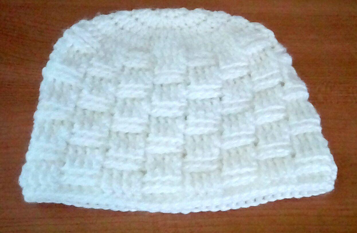 Crocheted basketweave hat for 9-12 month old by CrochetedHatsbyMPM on Etsy 21e41071040