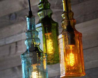 AuBergewohnlich Recycling Flasche Kronleuchter Marquis Gin