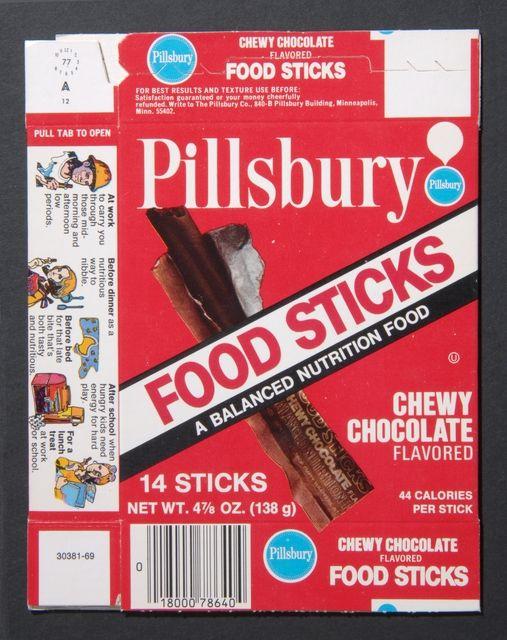 Pillsbury's Food Sticks packaging, ca. 1950.   Food ...