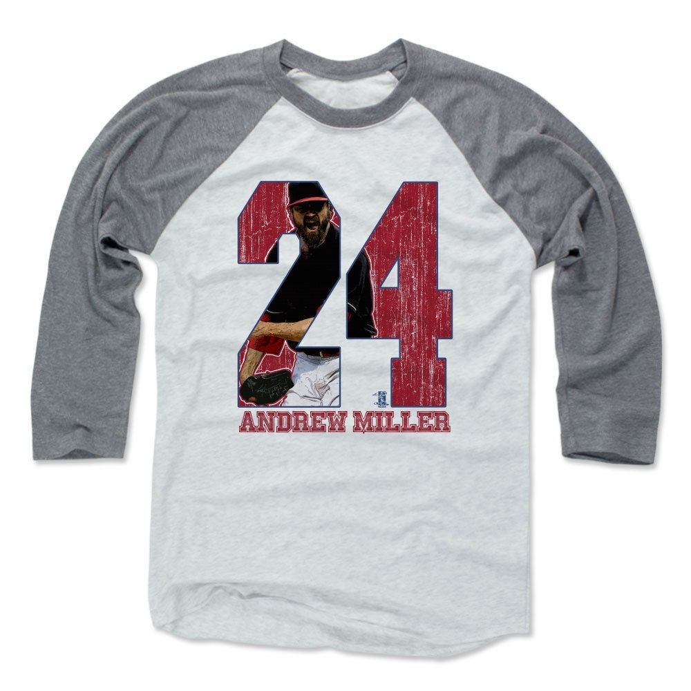 Andrew Miller Game R Cleveland MLBPA Officially Licensed Baseball T-Shirt Unisex S-3XL