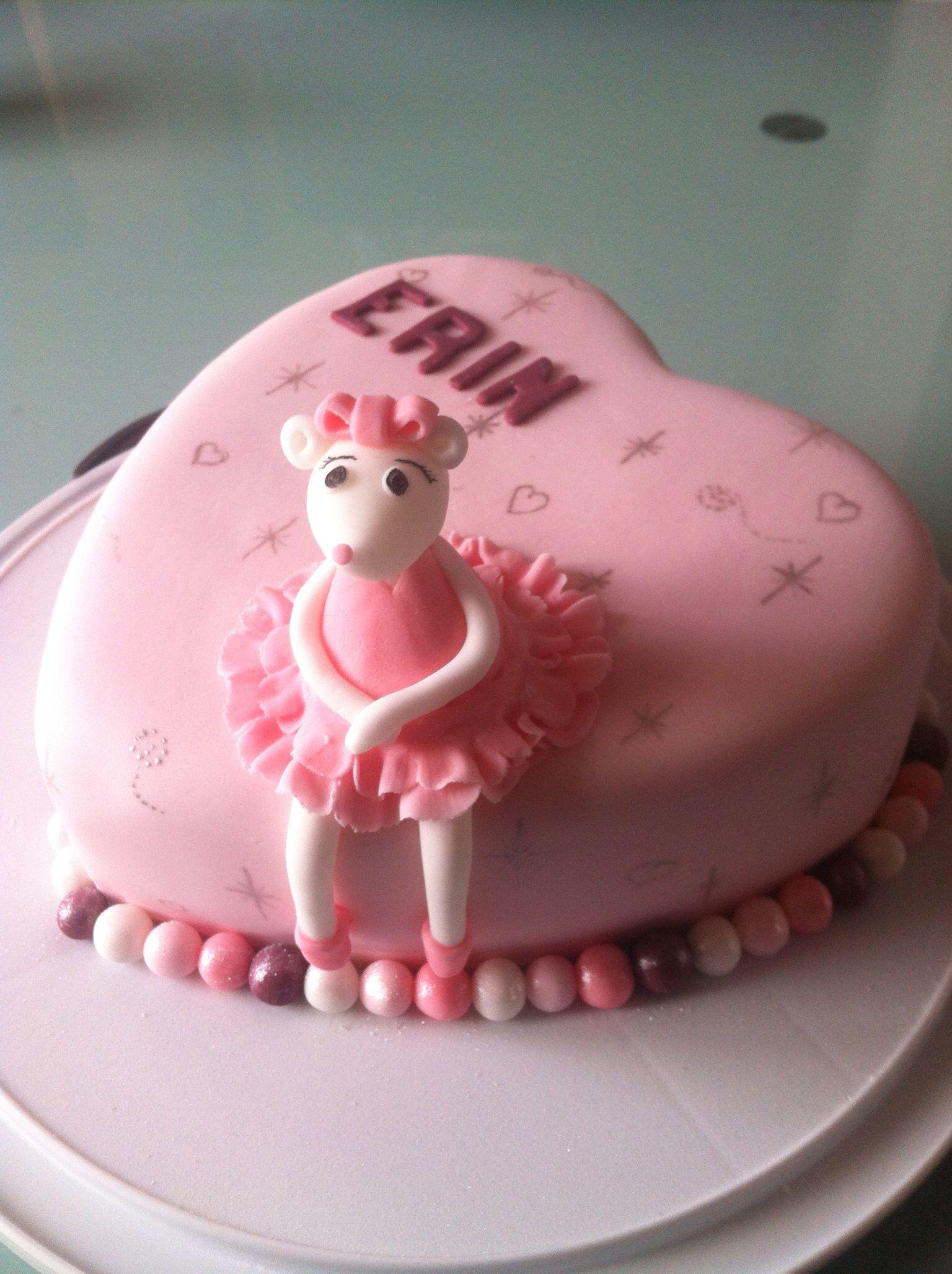 Angelina ballerina birthday cake birthdays pinterest ballerina