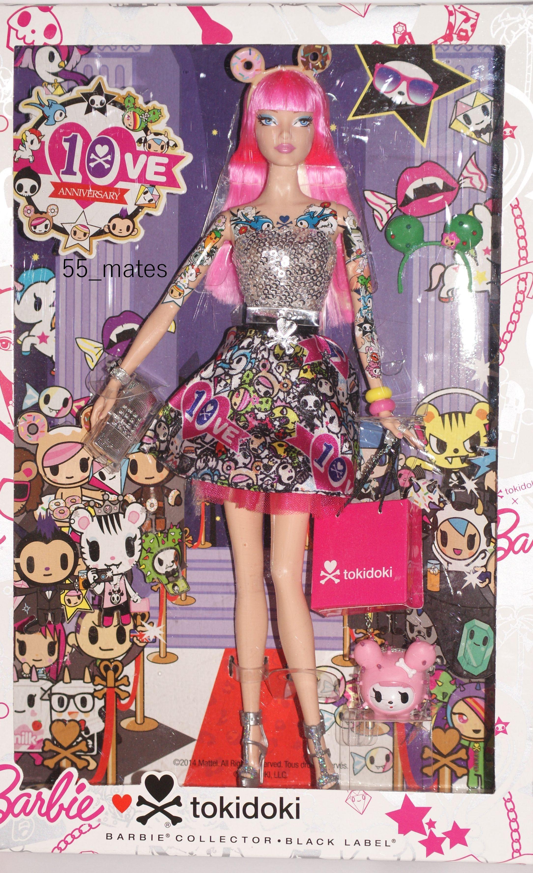 Black Label 10th Anniversary Pink Hair Tokidoki Barbie 2015 Nrfb