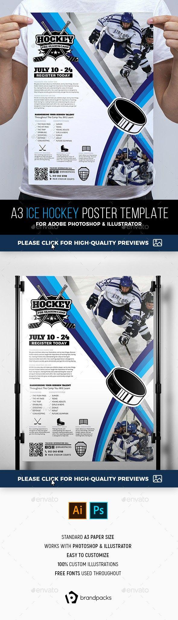 A4 Poster Advert Advertisement Ai Brandpacks College Hockey