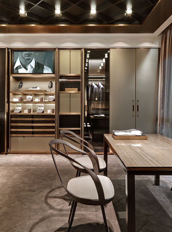 The New Flagship Store Of Brioni Has Opened In Frankfurt Diseno De Muebles Diseno De Interiores Muebles A Medida