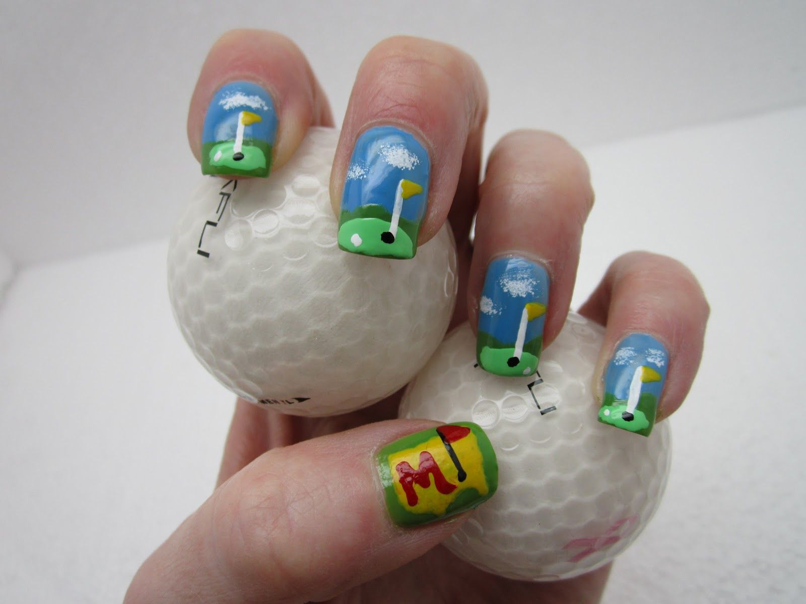 Dad Golf Nail Nails Nailart Beauty Nail Designs Creative