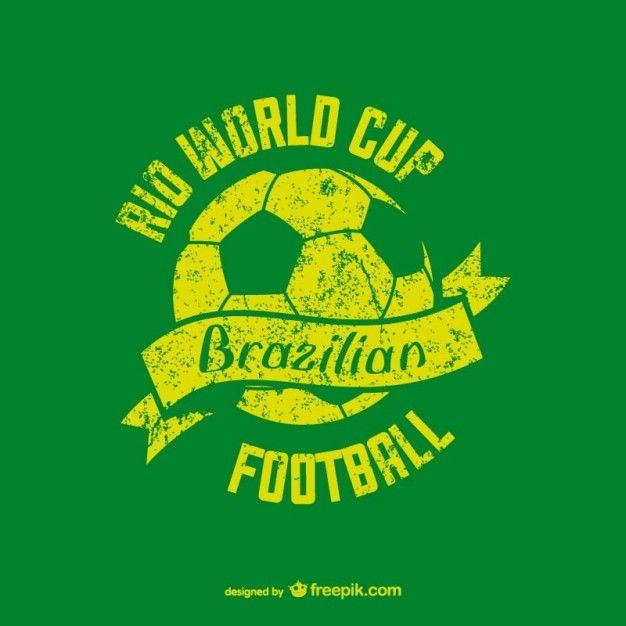 Brasil #Futbol | Icons | Pinterest | Vectores gratis, Vendimia y Mas de