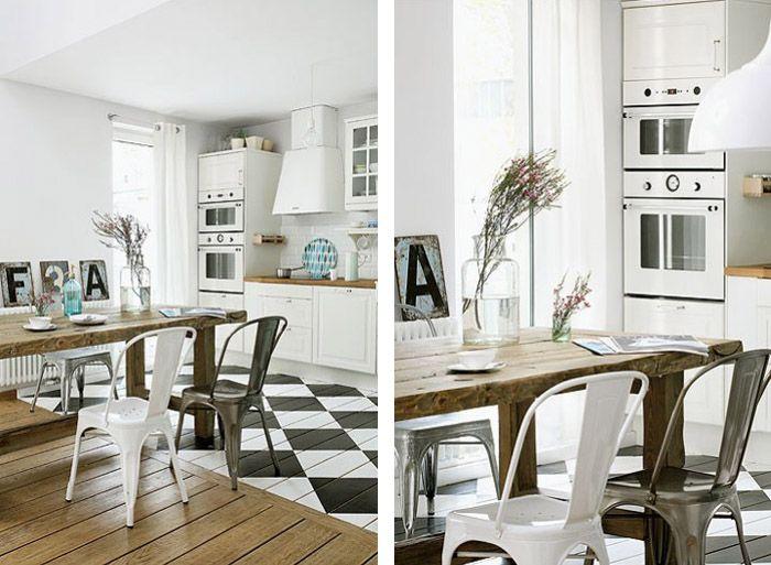 Sol Damier Cuisine Pinterest Les Couleurs Pastel Couleurs - Carrelage cuisine damier pour idees de deco de cuisine