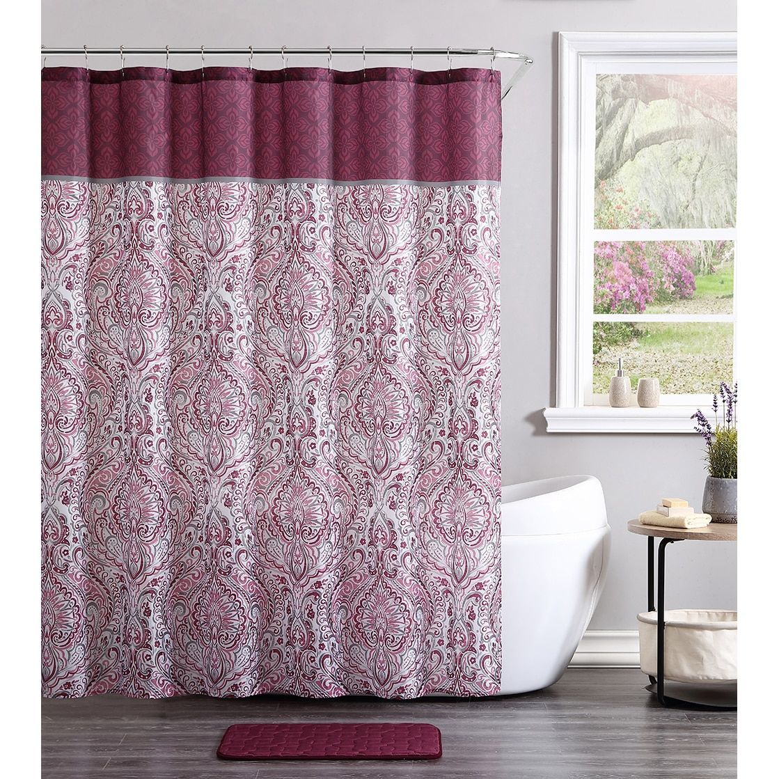 Vcny home ava piece shower curtain and bath set products